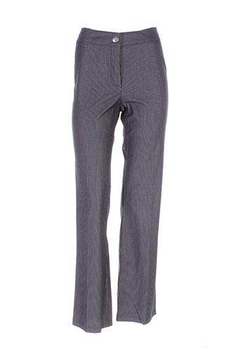 mitsouki pantalons femme de couleur gris