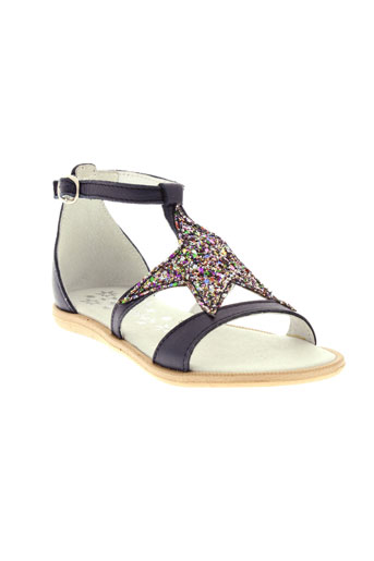 acebos chaussures fille de couleur bleu