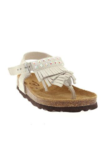 reqins sandales et nu et pieds fille de couleur blanc