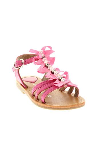 l et atelier et tropezien sandales et nu et pieds fille de couleur rose