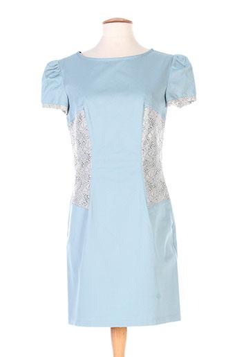 marie-lucie robes femme de couleur bleu