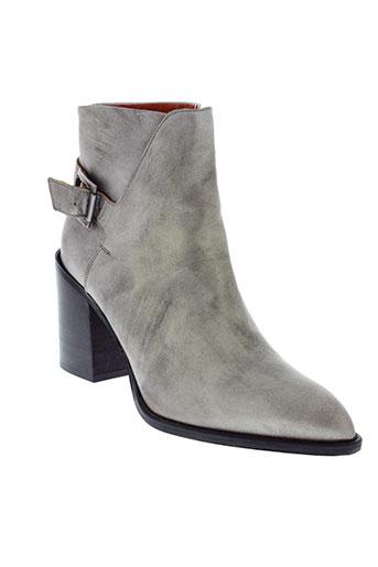 elizabeth et stuart boots femme de couleur gris
