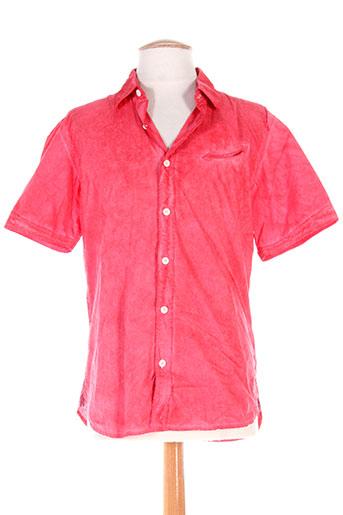 mcs chemises homme de couleur rouge