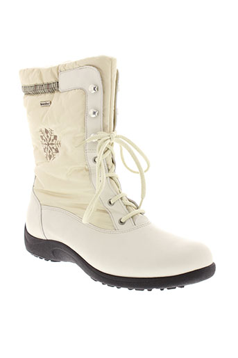 rohde boots femme de couleur blanc