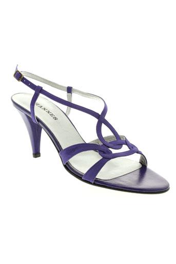 ohannes sandales et nu et pieds femme de couleur violet