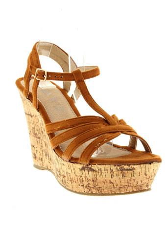 playa chaussures femme de couleur marron
