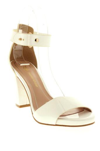 chocolate et schubar sandales et nu et pieds femme de couleur blanc