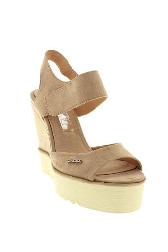 cassis et cote et d et azur sandales et nu et pieds femme de couleur beige
