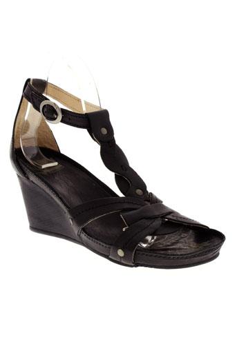 palladium sandales et nu et pieds femme de couleur noir