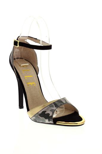 elle chaussures femme de couleur gris