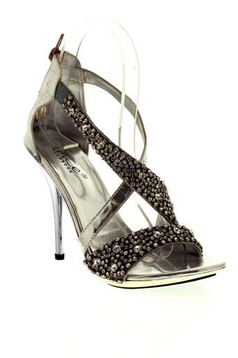 unze london chaussures femme de couleur gris