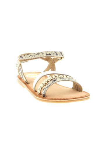 gioseppo sandales et nu et pieds fille de couleur beige
