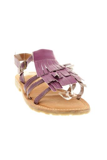 valentine et la et coquine sandales et nu et pieds fille de couleur violet