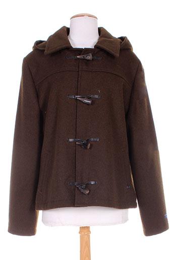 dalmad marine manteaux femme de couleur marron