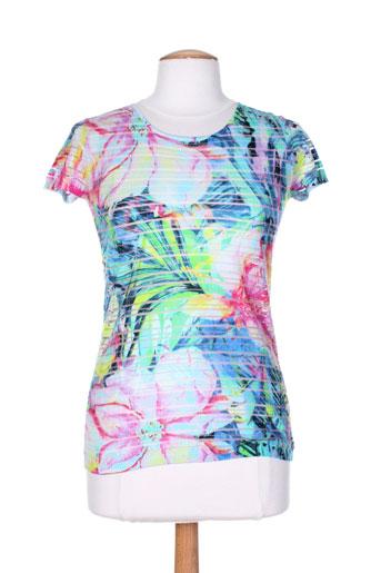 caroline biss t-shirts femme de couleur bleu