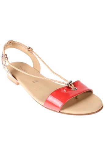 maurice et manufacture sandales et nu et pieds femme de couleur orange