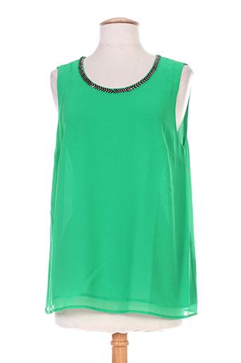sud express chemises femme de couleur vert