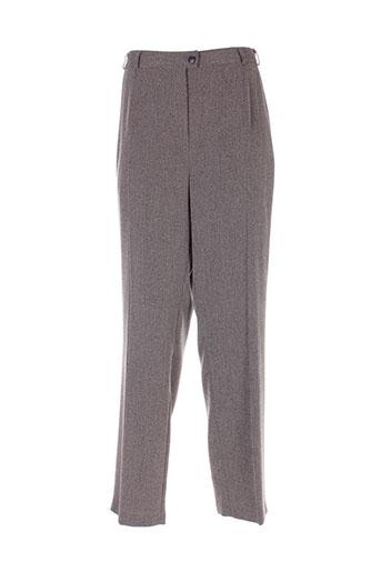 marcona pantalons femme de couleur gris