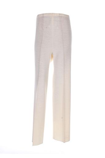 erica rossler pantalons femme de couleur beige