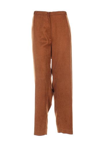 markwald pantalons femme de couleur marron