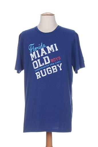 cambe t-shirts / tops homme de couleur bleu