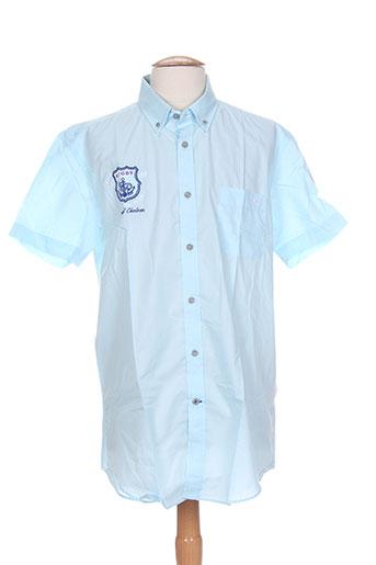 cambe chemises homme de couleur bleu