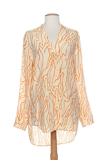 by malene birger chemises femme de couleur orange