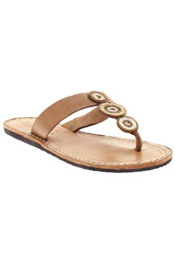 laidback london chaussures femme de couleur beige