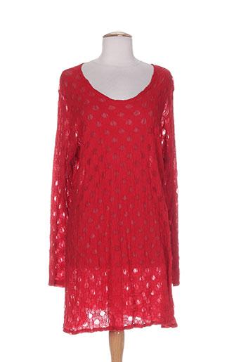 boris et industries tuniques femme de couleur rouge