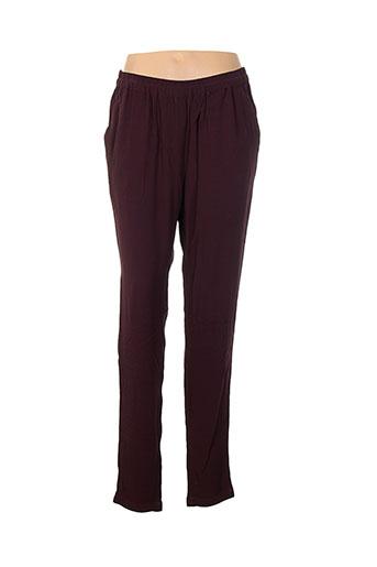 pieces pantalons et decontractes femme de couleur rouge