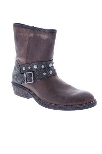 ikks boots fille de couleur marron