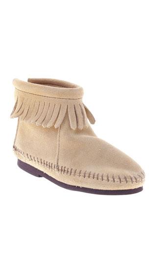 minnetonka chaussures fille de couleur beige