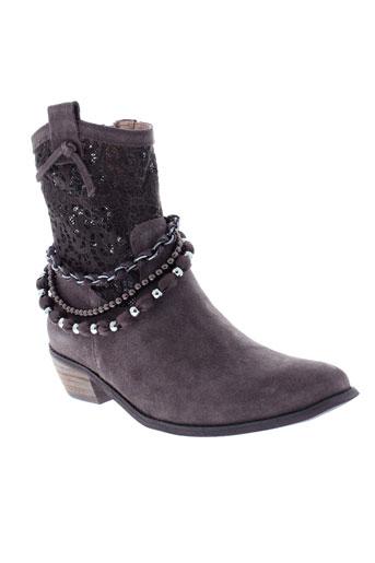 mam et zelle boots femme de couleur marron