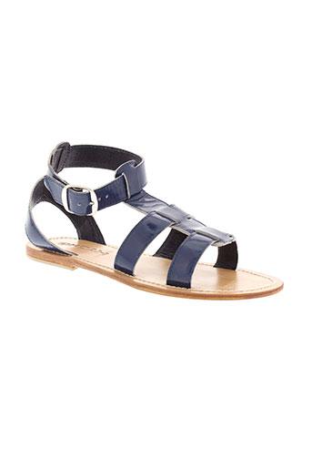 koah sandales et nu et pieds femme de couleur bleu