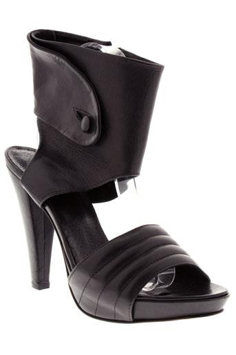 vero et cuio sandales et nu et pieds femme de couleur noir