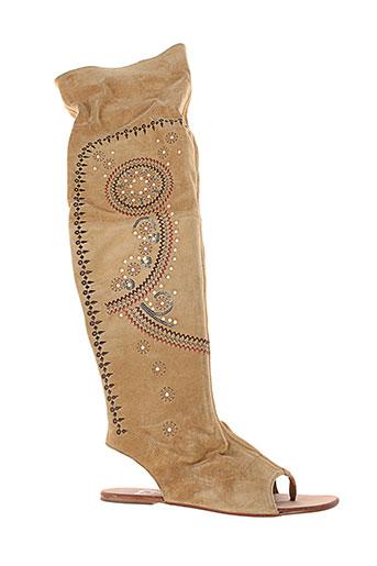 v et m sandales et nu et pieds femme de couleur beige
