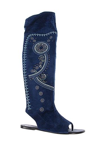 v et m sandales et nu et pieds femme de couleur bleu