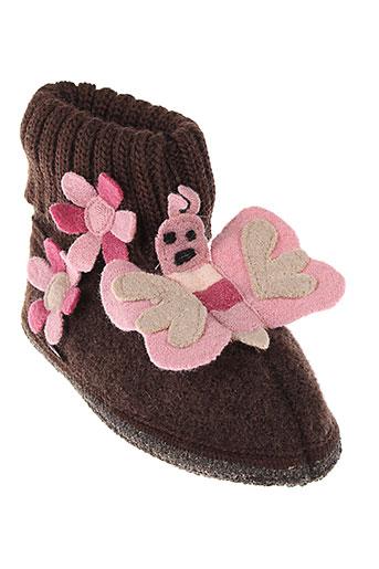 mod 8 chaussures fille de couleur marron