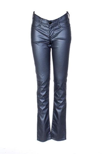 teddy smith pantalons fille de couleur gris