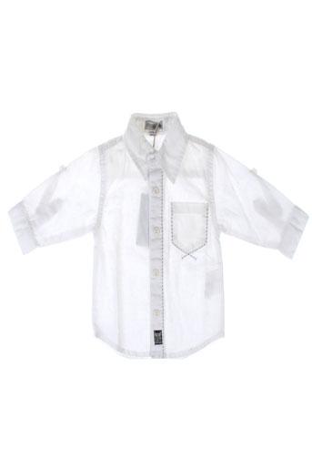 absorba chemises garçon de couleur blanc