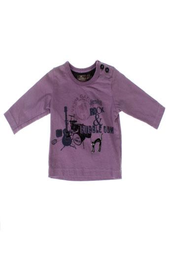 jean bourget t-shirts garçon de couleur violet