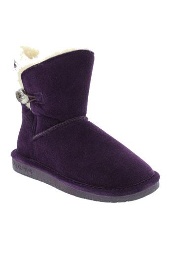 bearpaw boots fille de couleur violet