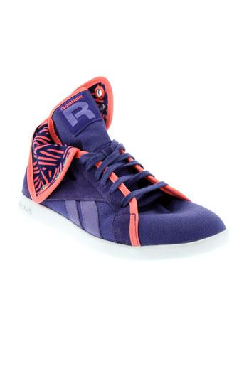 reebok chaussures femme de couleur violet