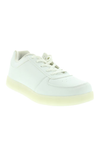 wize and ope chaussures homme de couleur blanc
