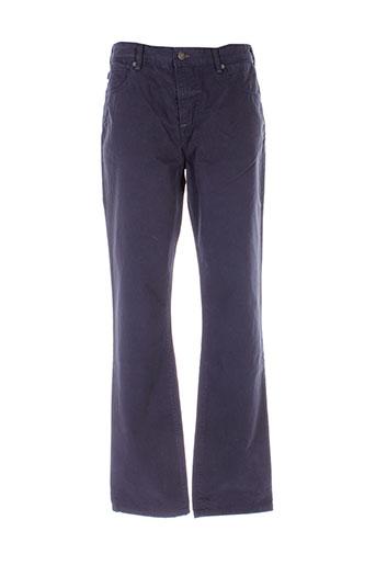 aigle pantalons homme de couleur bleu