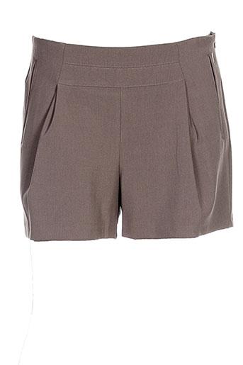 ikks shorts / bermudas femme de couleur marron