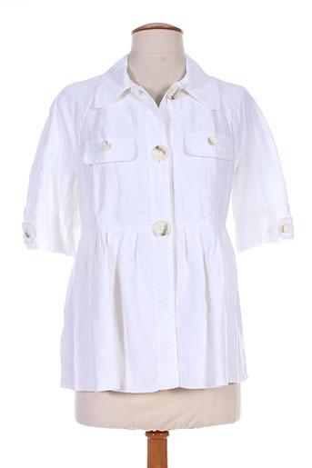 Veste casual blanc BENETTON pour femme