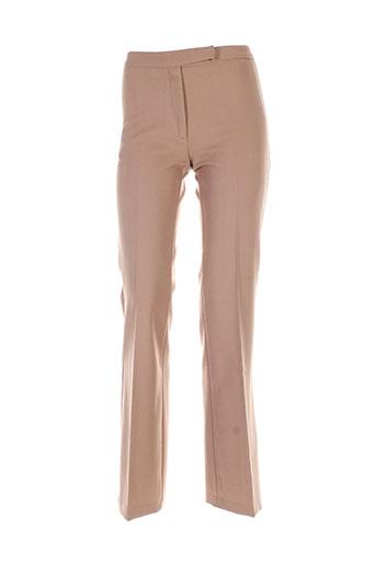 benetton pantalons et citadins femme de couleur marron
