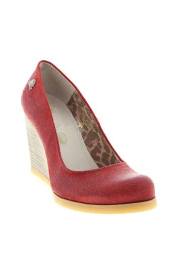mtng chaussures femme de couleur rouge