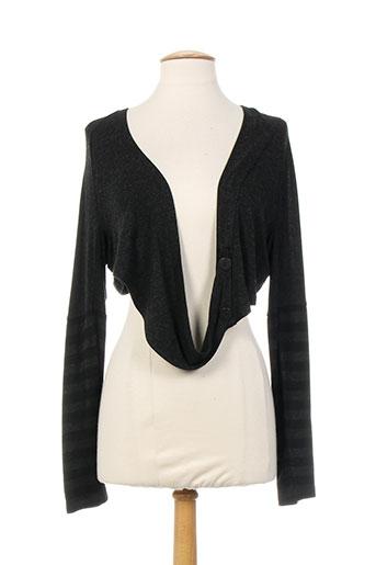 griffonnage vestes femme de couleur gris